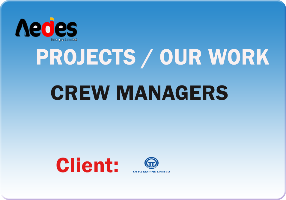 Crew Manager for Otto marine Vessels